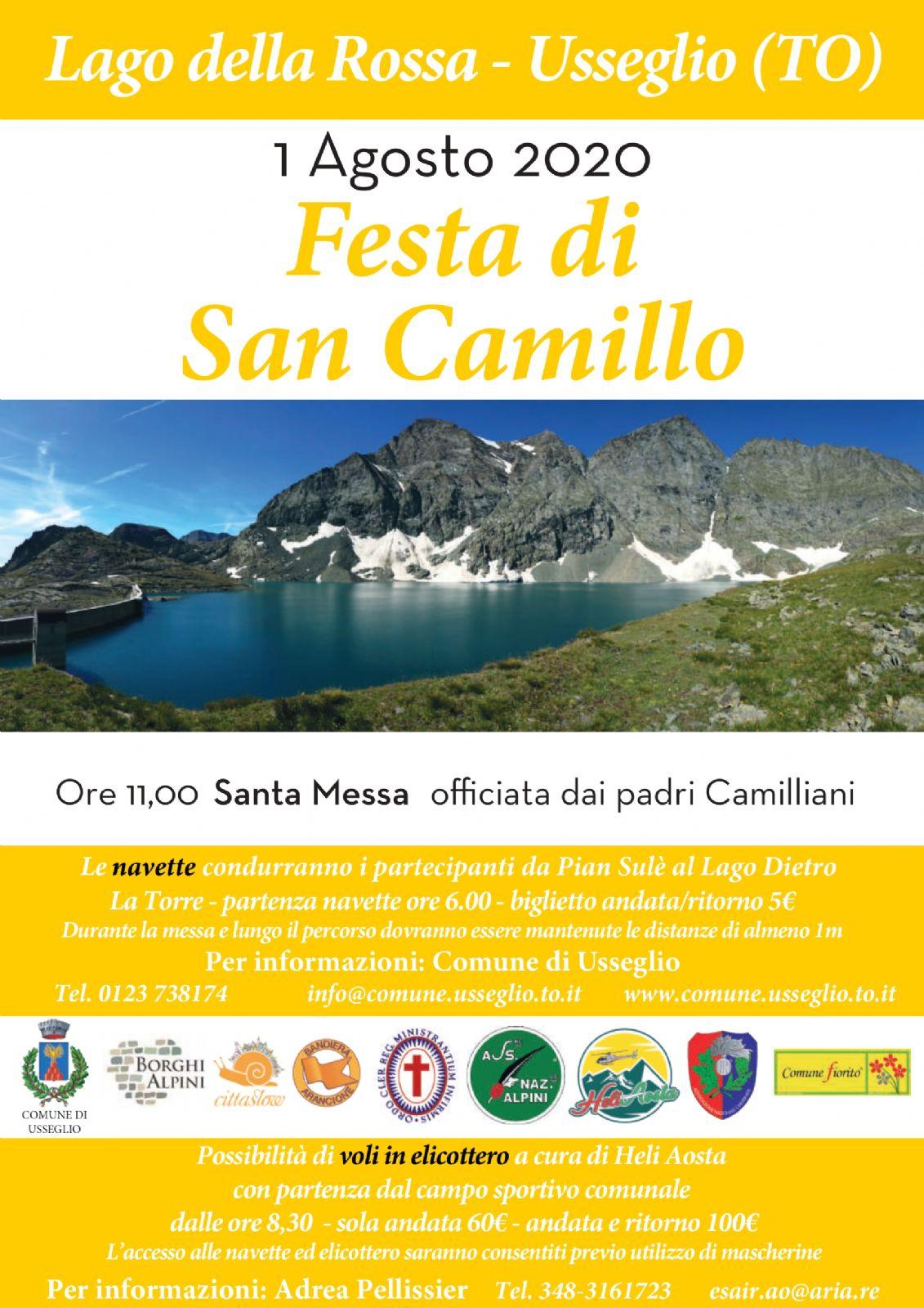 Festa di San Camillo - 1 agosto 2020 - Comune di Usseglio